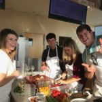 Students in commercial kitchen